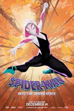 Gwen Stacy nel poster di Spider-Man: Un nuovo universo dedicato al suo personaggio