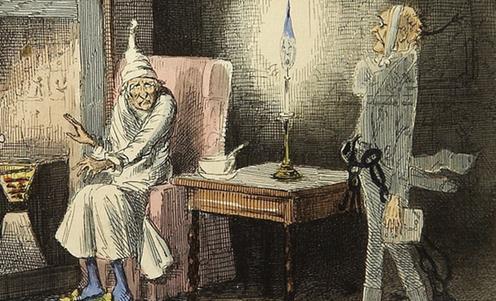 Illustrazione di John Leech dell'opera di Dickens