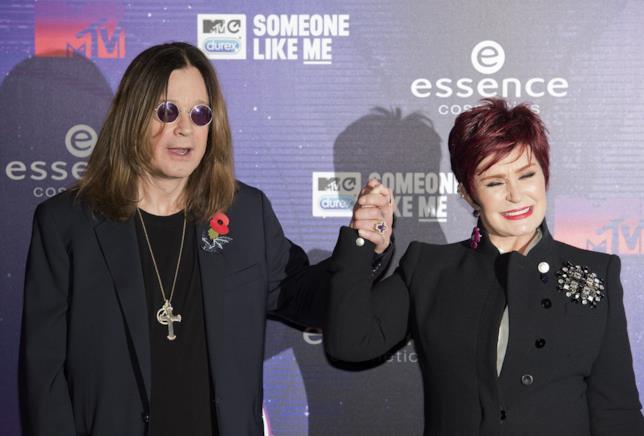 Primo piano di Sharon e Ozzy Osbourne