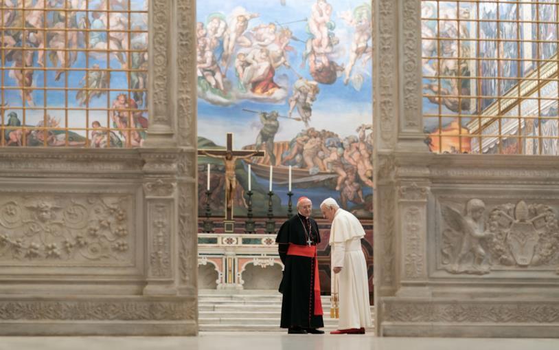 Una scena da I due papi