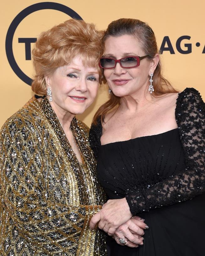 Carrie Fisher e Debbie Reynolds in una delle loro ultime foto insieme