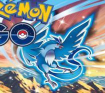 Un Pokémon leggendario campeggia accanto al logo di Pokémon GO