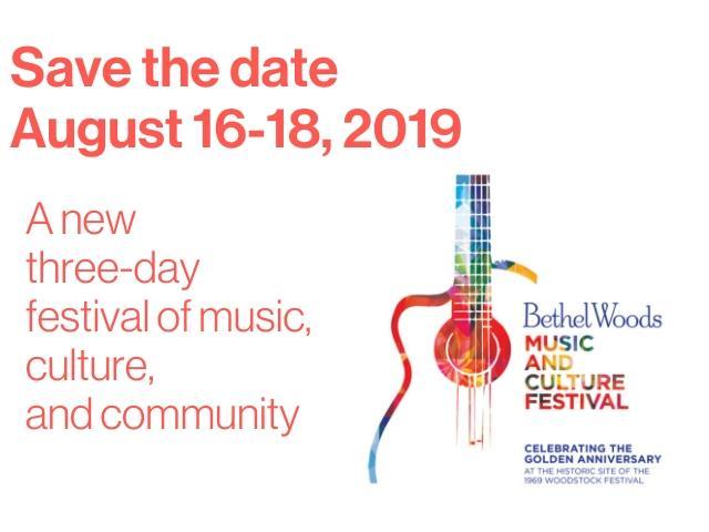 la locandina del festival di Woodstock 2019