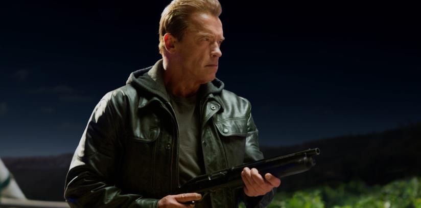 Un'immagine di Schwarzenegger in Terminator: Genisys