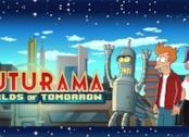 Fry, Leela e Bender annunciano Futurama. Worlds of Tomorrow