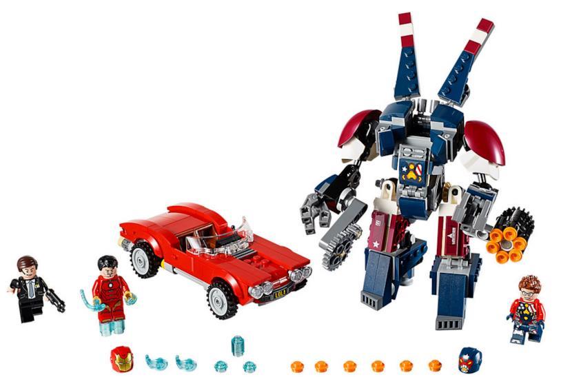 Dettagli del set Iron Man: l'attacco di Detroit Steel di LEGO