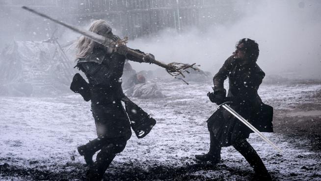 Jon Snow in una scena della stagione 5