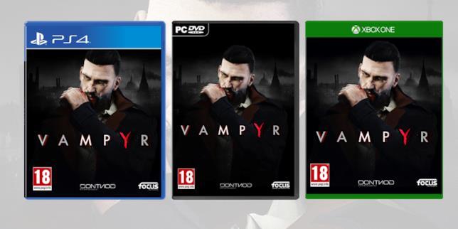 Le boxart di Vampyr