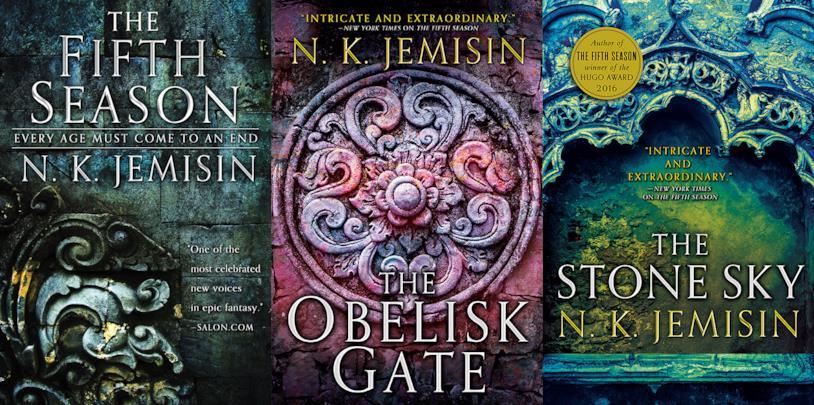 Le tre copertine originali di The Broken Earth