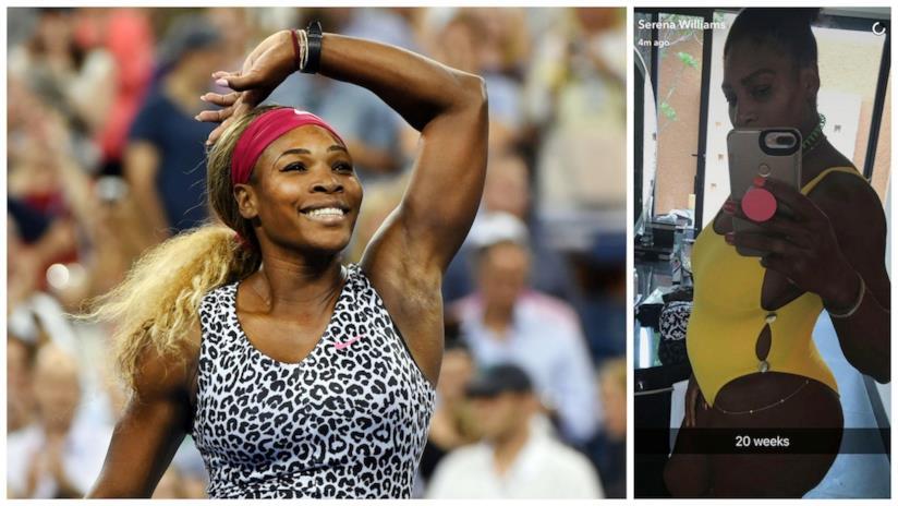 Lo scatto con pancione condiviso sui social da Serena Williams