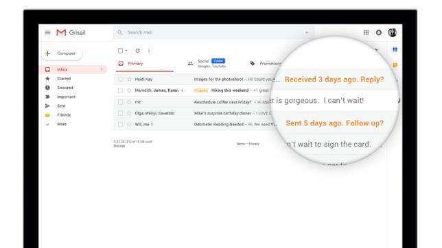 Gmail ha introdotto al funzione Promemoria