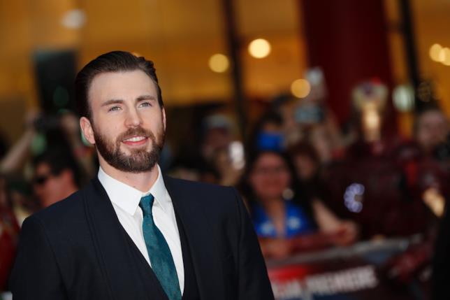 Chris Evans, interprete di Capitan America nel Marvel Cinematic Universe