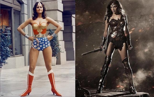 Lynda Carter e Gal Gadot nei panni di Wonder Woman