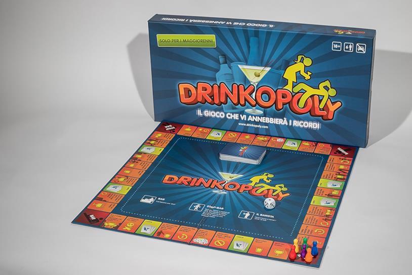Il contenuto della scatola di Drinkopoly