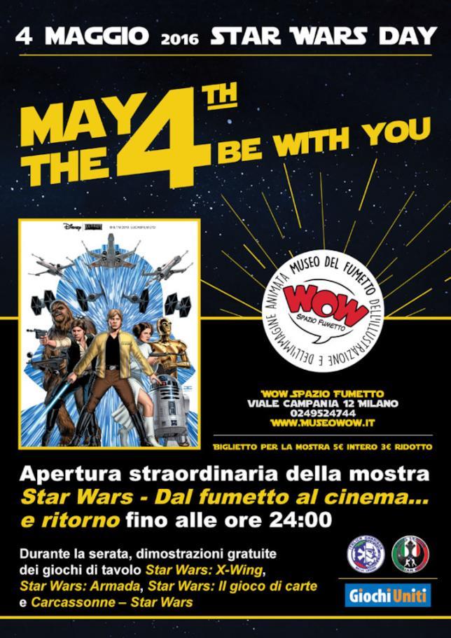 WOW Spazio Fumetto celebra lo Star Wars Day 2016 con un'apertura straordinaria