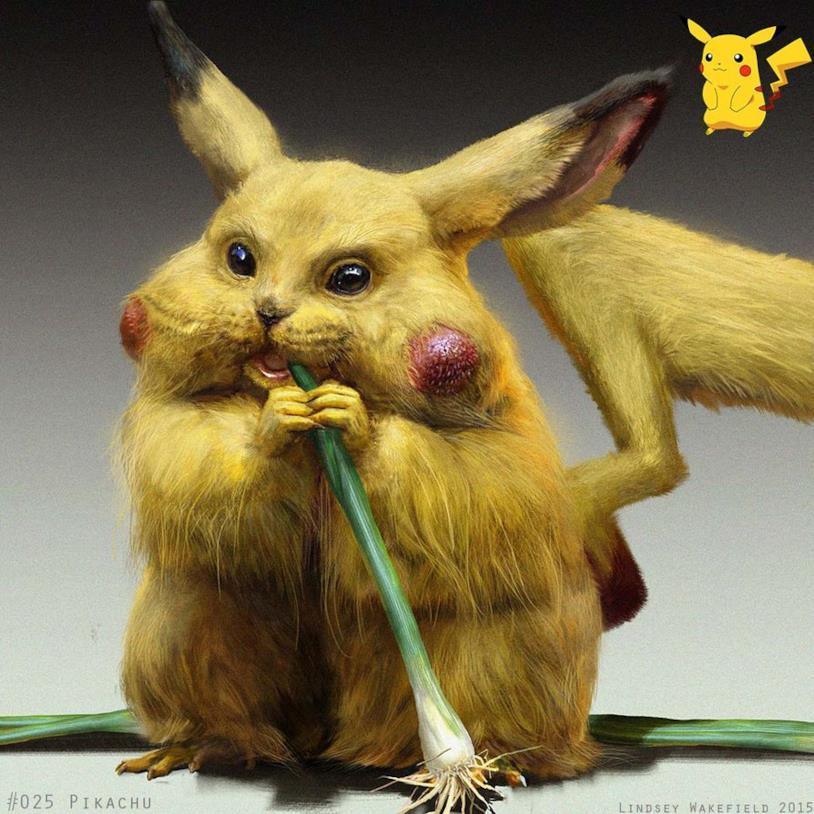 Pikachu in versione iper-realistica