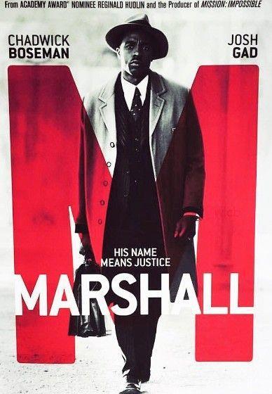 Il poster del film Marshall con Chadwick Boseman
