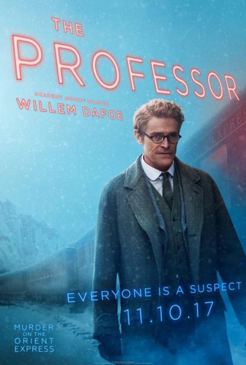 Il poster del Professore di Assassinio sull'Orient Express
