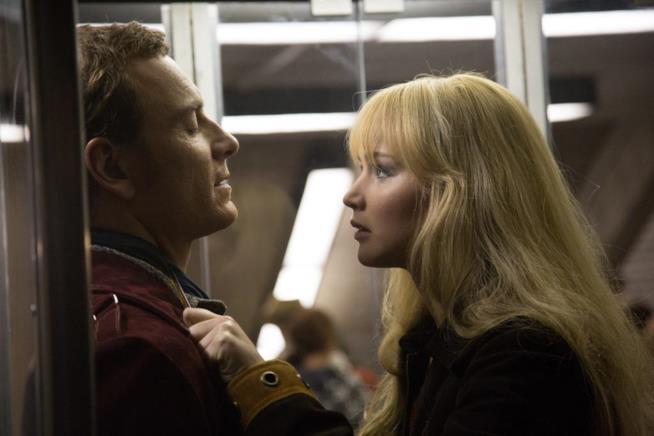 Magneto e Mystica in una scena del film X-Men: Giorni di un Futuro Passato