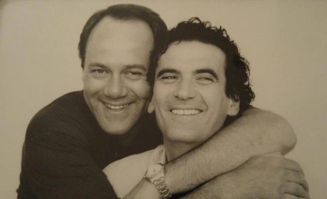 Carlo Verdone e Massimo Troisi in uno scatto