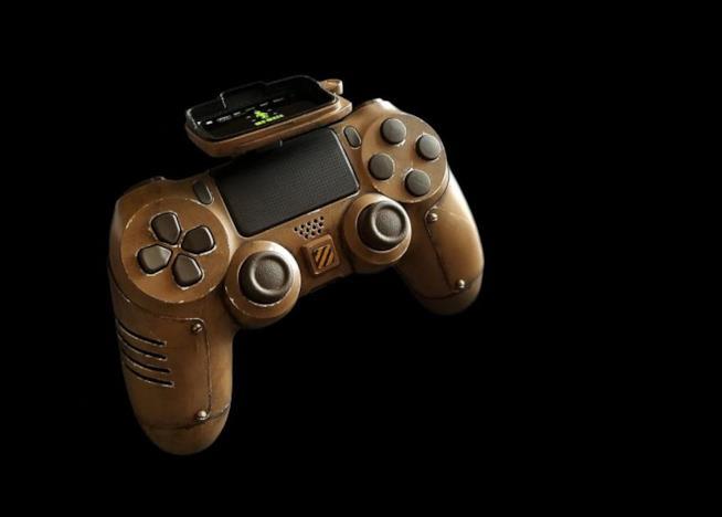 Foto laterale del DualShock di Fallout 4