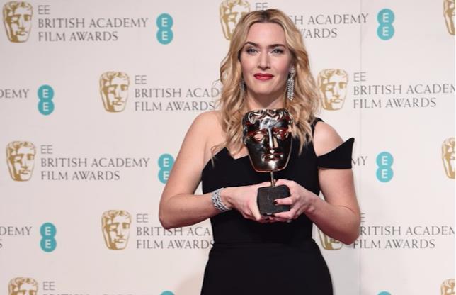 Kate Winslet col suo BAFTA Award
