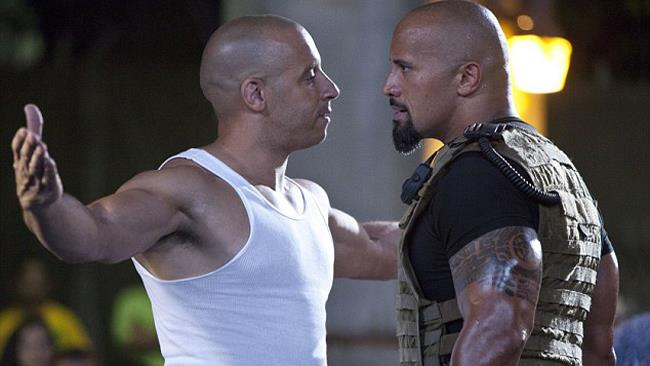 Vin Diesel e The Rock
