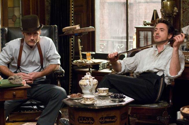 Una scena del film Sherlock Holmes
