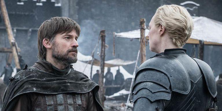 Nikolaj Coster-Waldau e Gwendoline Christie in Game of Thrones 8
