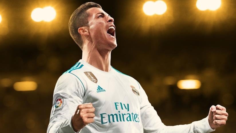 Cristiano Ronaldo esulta in FIFA 18