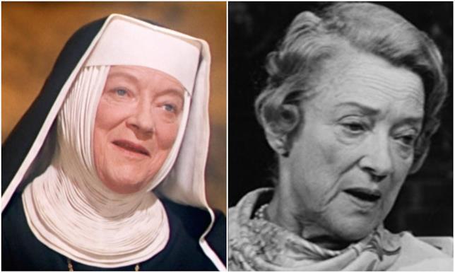 Peggy Wood in un collage con la Madre Superiora
