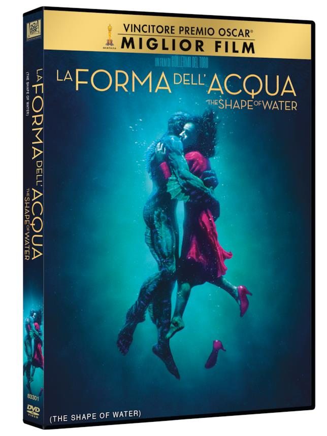 Packshot del DVD di The Shape of Water