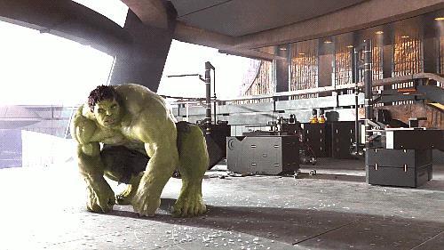 Hulk in una scena di The Avengers