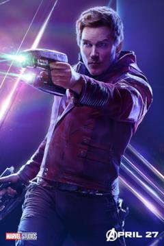 Il poster del personaggio di Star-Lord