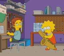 Brendan e Lisa suonano insieme a casa Simpson