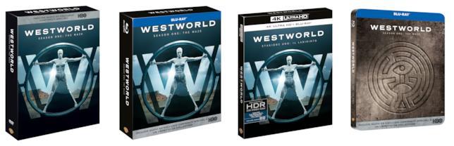 Le versioni Home Video della prima stagione di Westworld