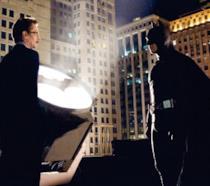 Gary Oldman e Christian Bale in una scena di Batman Begins