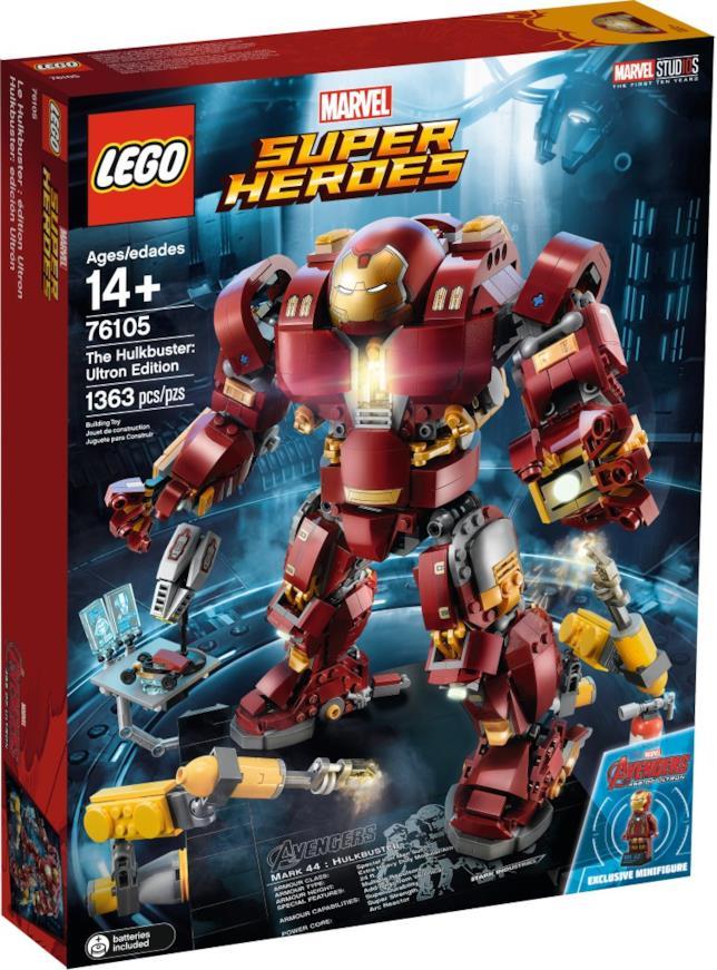 immagine frontale del Box Hulkbuster: Ultron Edition di LEGO