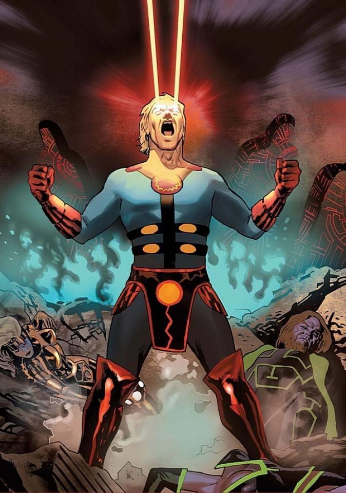 Illustrazione di Ikaris in una pagina degli albi a fumetti Marvel Comics