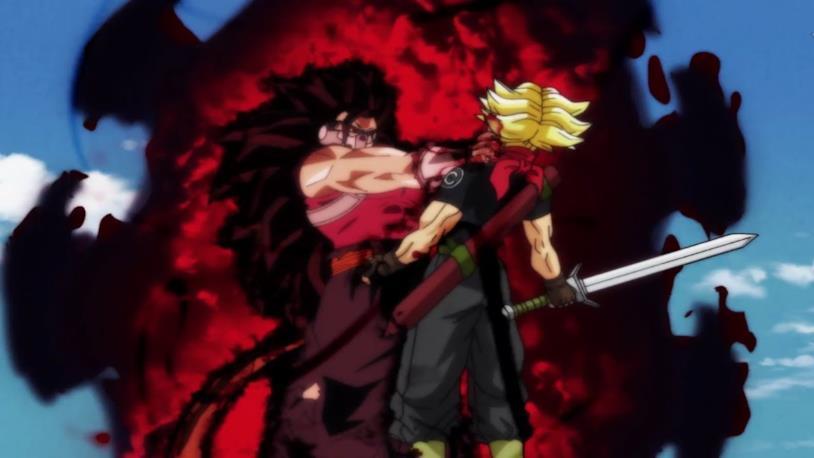 Dragon Ball Heroes Kanba sconfigge Trunks