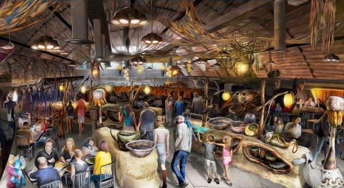 Immagine del ristorante del parco a tema Avatar