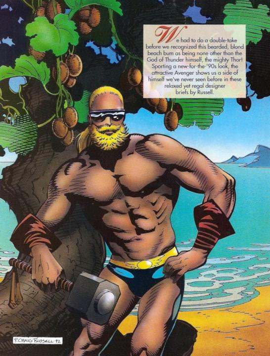 Marvel Swimsuit Special: Thor con la barba bionda