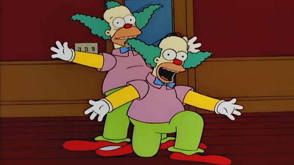 Una scena dell'episodio de I Simpson Homer il Clown
