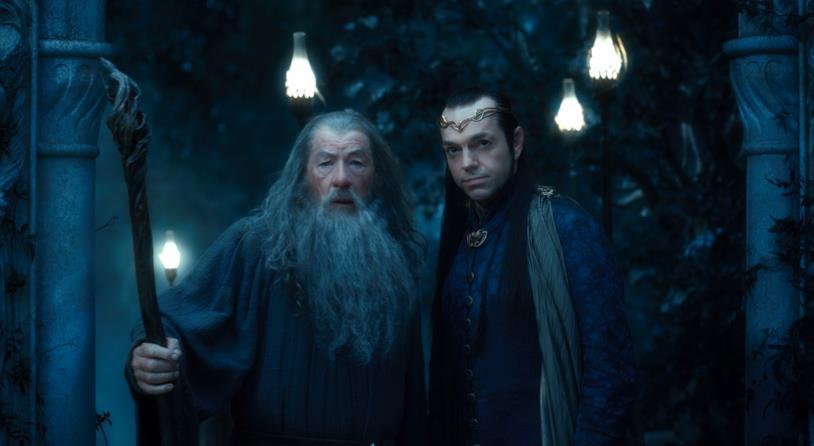 Gandalf ed Elrond nei film del Signore degli Anelli