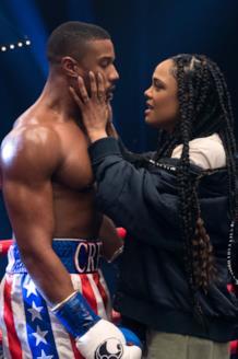 Michael B. Jordan e Tessa Thompson in una scena del film