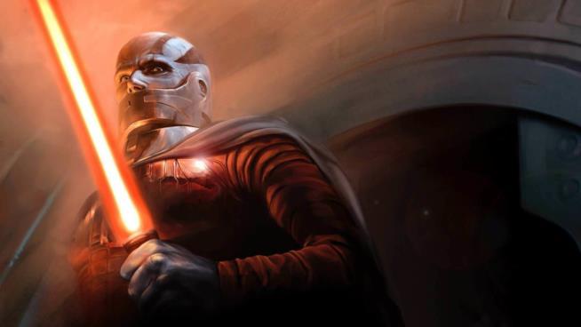 Uno dei bozzetti preparatori di Star Wars: Knights of the Old Republic dedicato a un Sith