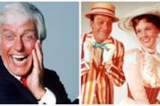 Dick Van Dyke in una foto recente e in Mary Poppins