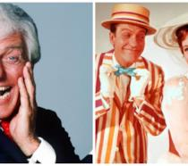 Dick Van Dyke in una foto recente e in Mary Poppins