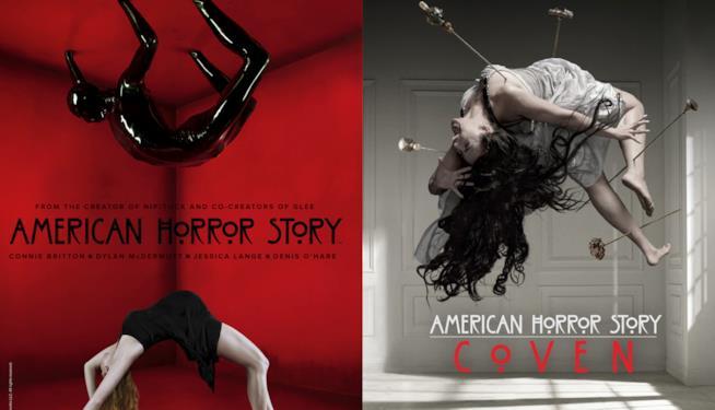 American Horror Story: un'immagine da Murder House e una da Coven
