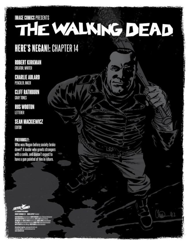La copertina di Here's Negan #14